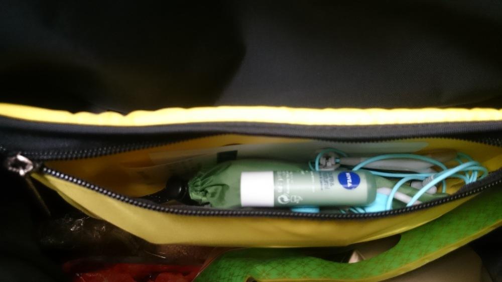 The organizer pocket inside.