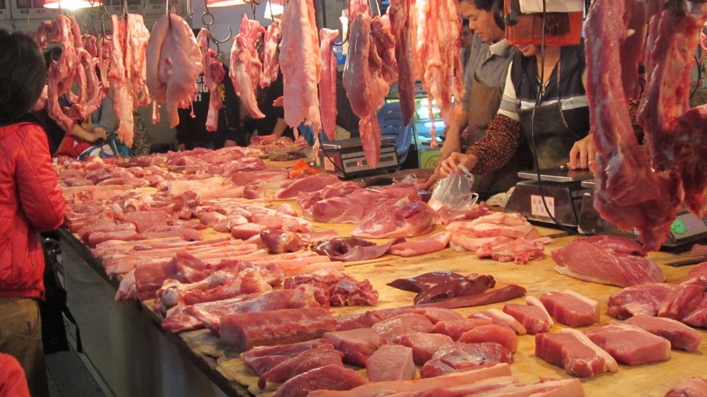 A local market. No refrigeration!