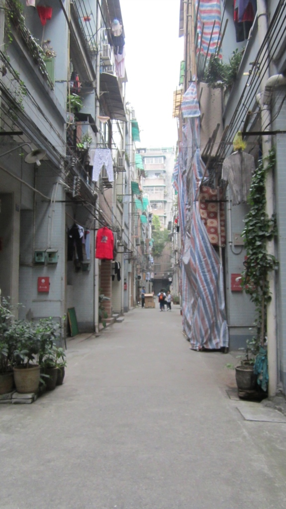 A typical street in the old town of Guangzhou.