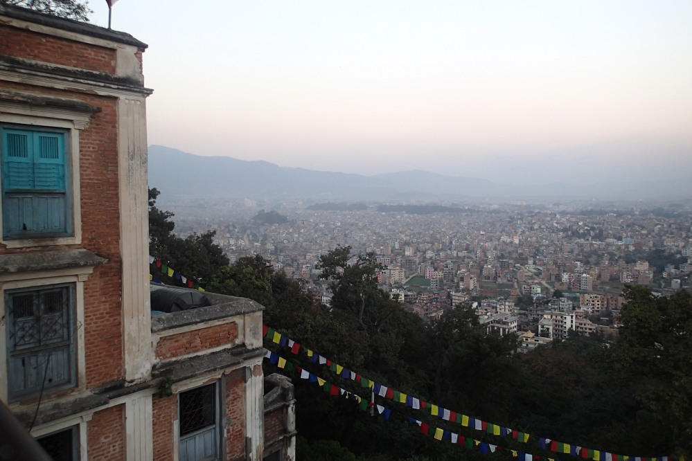 Looking out onto the city of Kathmandu.