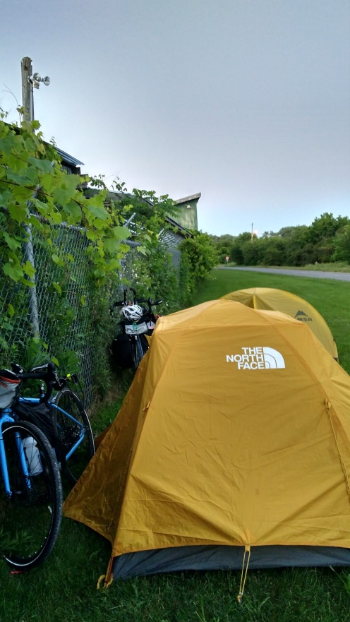 Camping along the trail in Prince Edward County